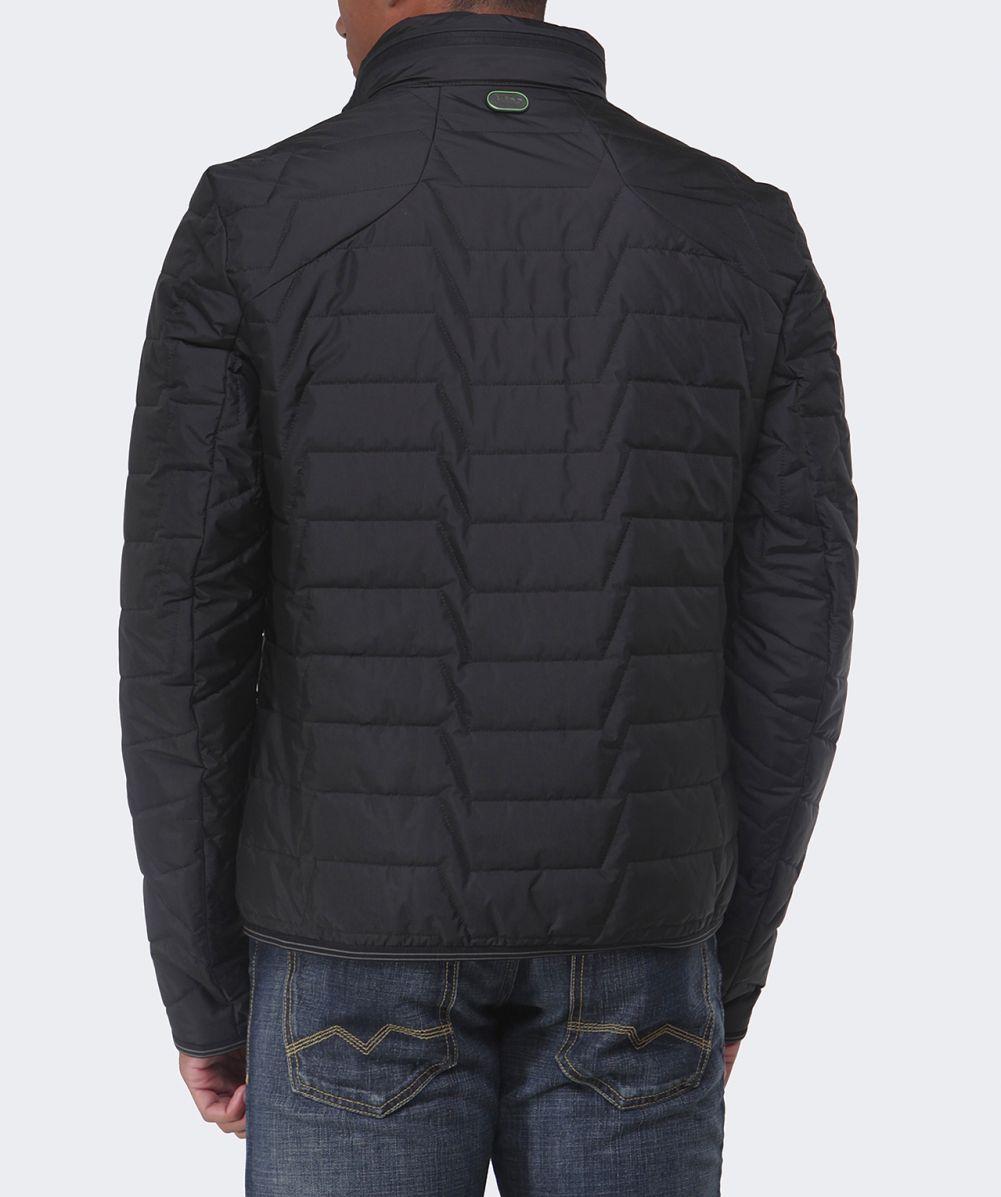 hugo boss green quilted jelgar jacket available at jules b. Black Bedroom Furniture Sets. Home Design Ideas