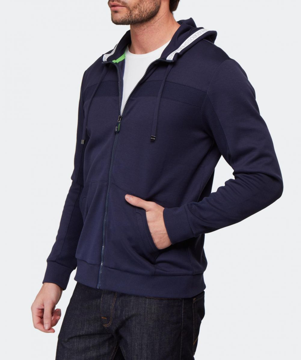 hugo boss green saggy hoodie available at jules b. Black Bedroom Furniture Sets. Home Design Ideas