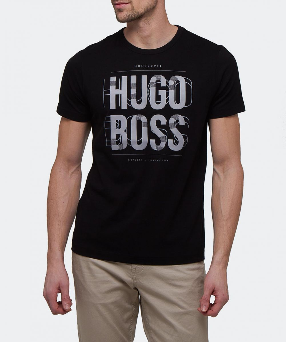 boss t shirt herren hugo boss tee shirts hugo boss green. Black Bedroom Furniture Sets. Home Design Ideas