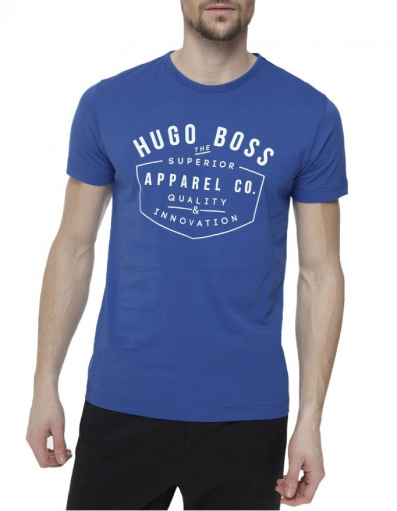 hugo boss green tee1 logo t shirt jules b. Black Bedroom Furniture Sets. Home Design Ideas