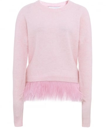 Merino Wool Icelyn Feather Trim Jumper