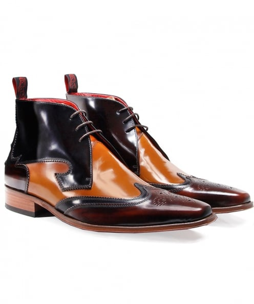 Jeffery-West Leather Yardbird Chukka Boots