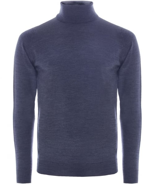 John Smedley Slim Fit Merino Wool Roll Neck Belvoir Jumper