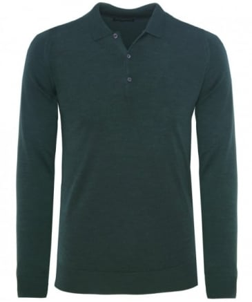 Slim Fit Merino Wool Tyburn Polo Shirt