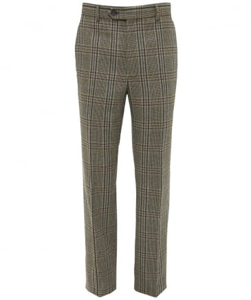 Virgin Wool Check Mautby Trousers