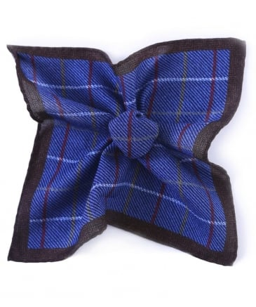 Wool Check Pocket Square