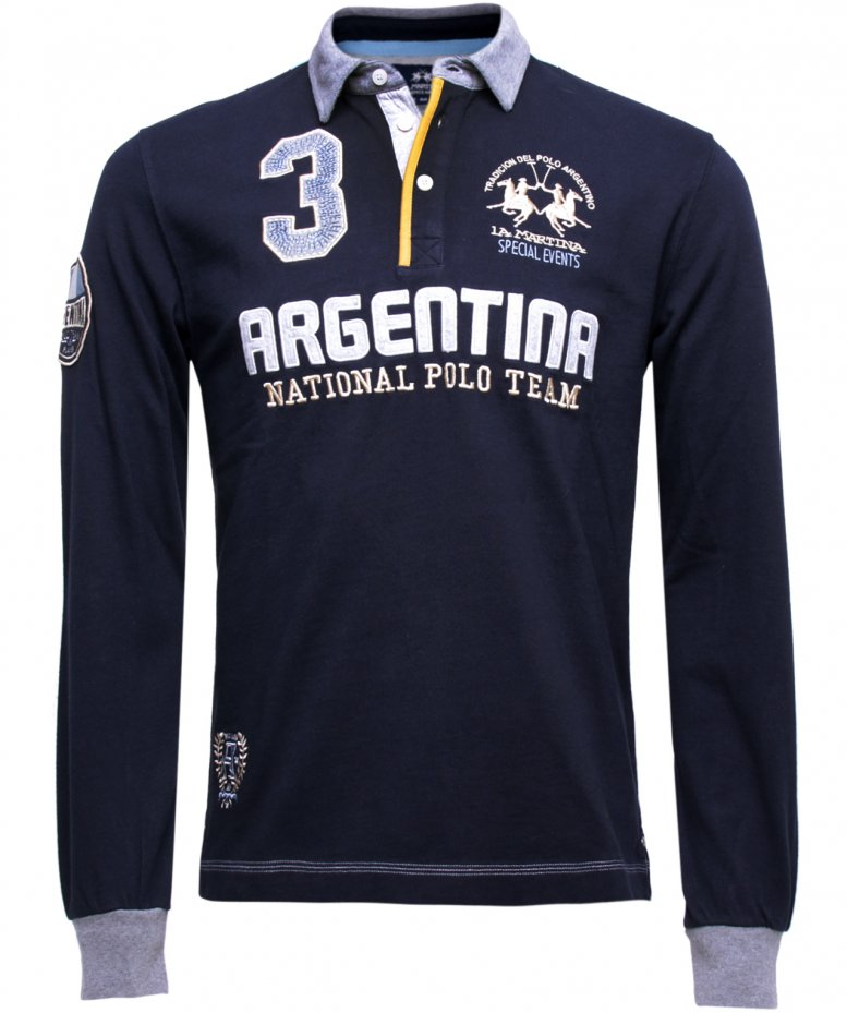 la martina argentina long sleeved polo shirt available at jules b. Black Bedroom Furniture Sets. Home Design Ideas
