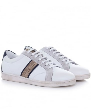 Calf Leather Flat Trainers