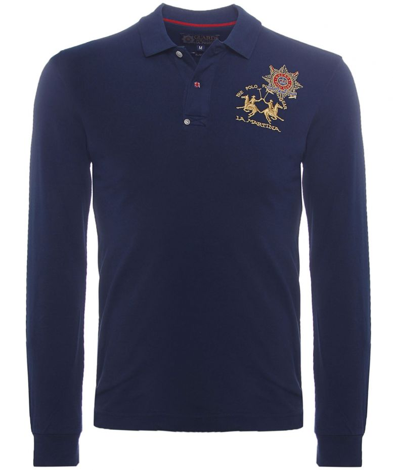 la martina guards long sleeve polo shirt available at jules b. Black Bedroom Furniture Sets. Home Design Ideas