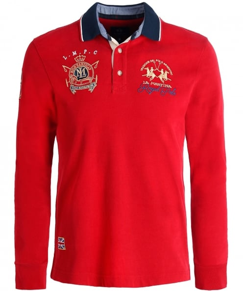 La Martina Long Sleeve Crispian Polo Shirt