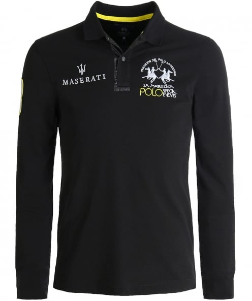 La Martina Slim Fit Long Sleeve Jericho Polo Shirt