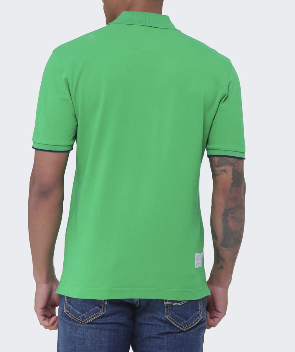 La martina green slim fit miguel polo shirt jules b for Slim fit collared shirts