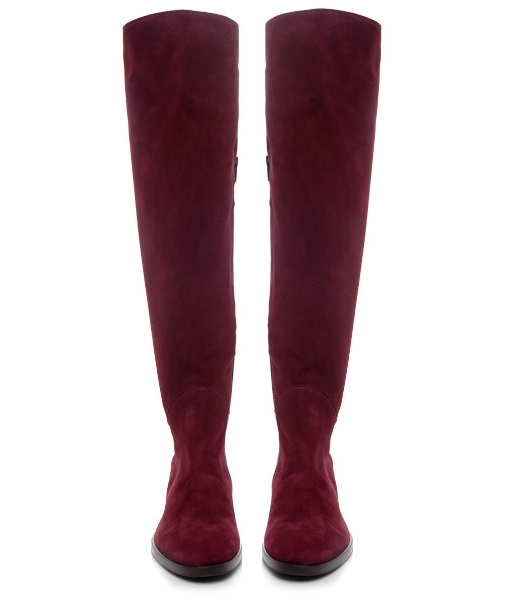 le pepe knee suede boots available at jules b
