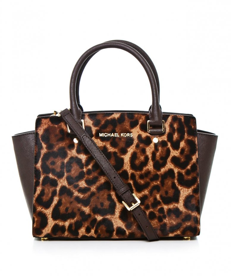michael michael kors leopard small selma tote bag available at jules b. Black Bedroom Furniture Sets. Home Design Ideas