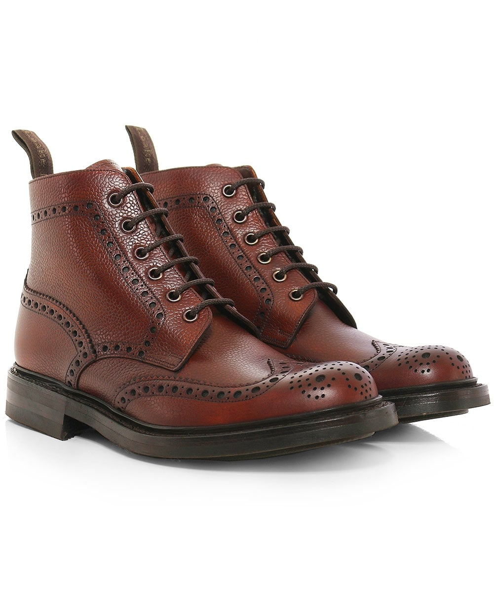 f27f28d802449 Loake Brown Grain Leather Bedale Brogue Boots