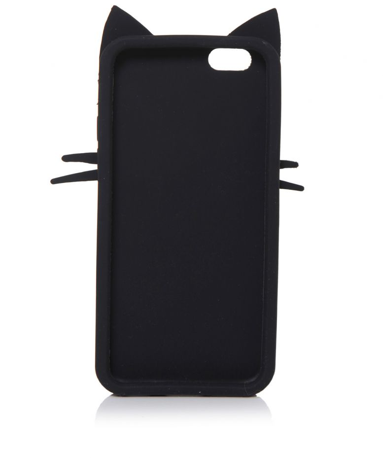 Lulu Guinness Black Kooky Cat iPhone 6 Case available at Jules B