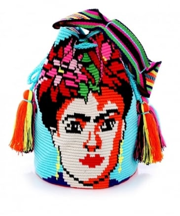 Large Frida Puebla Bucket Bag