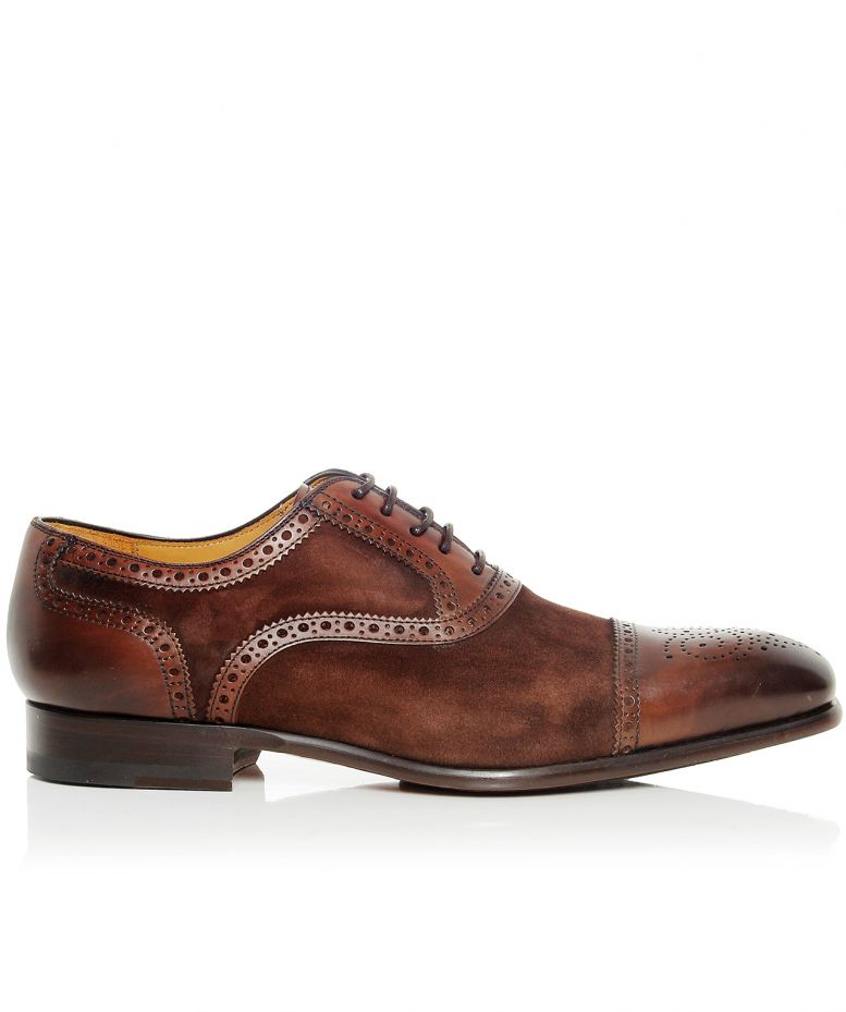 magnanni brown leather suede oxford shoes available at