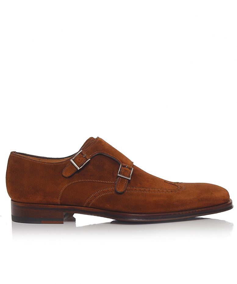 "An excellent shoe to dress up or down, the single monk has a rich history and is available in leather or suede, ready-to-wear or custom, and even in boot versions. Monk Strap History The single monk was first spotted in 15th-century European monasteries (hence the term ""monk strap"")."