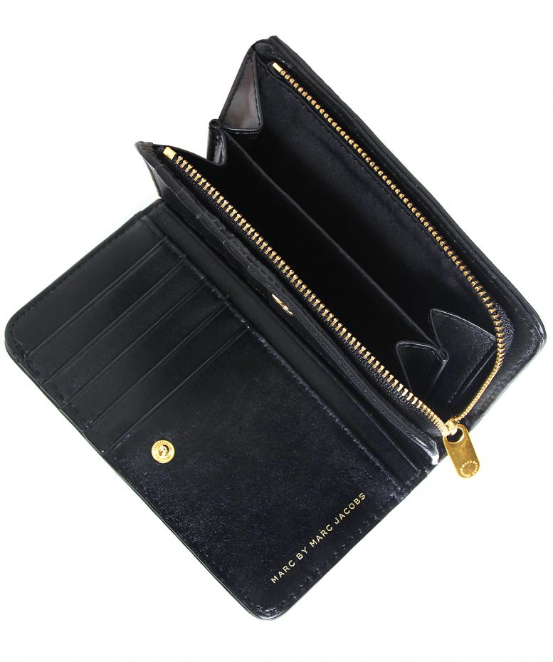 Marc Jacobs Black Lauren Leather Wallet Available At Jules B