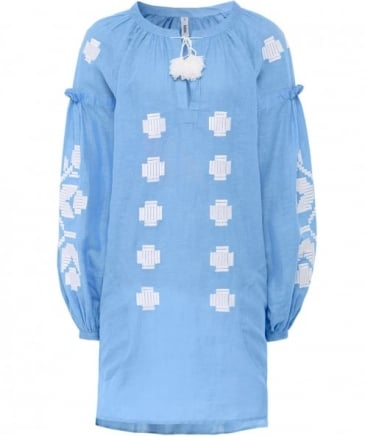 Linen Embroidered Zarina Tunic Top