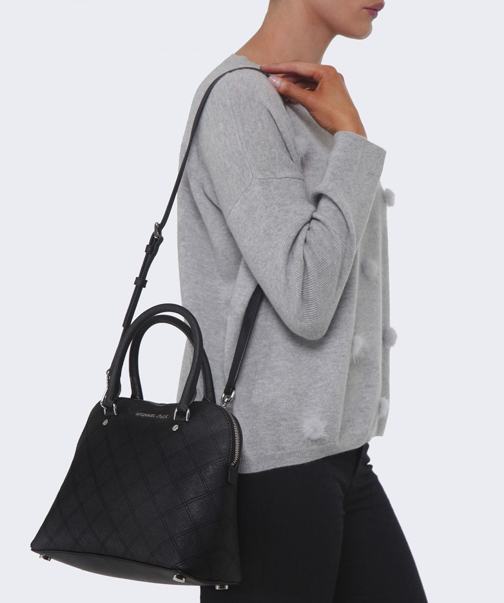 black and gray michael kors bag ya6d  michael kors bag medium