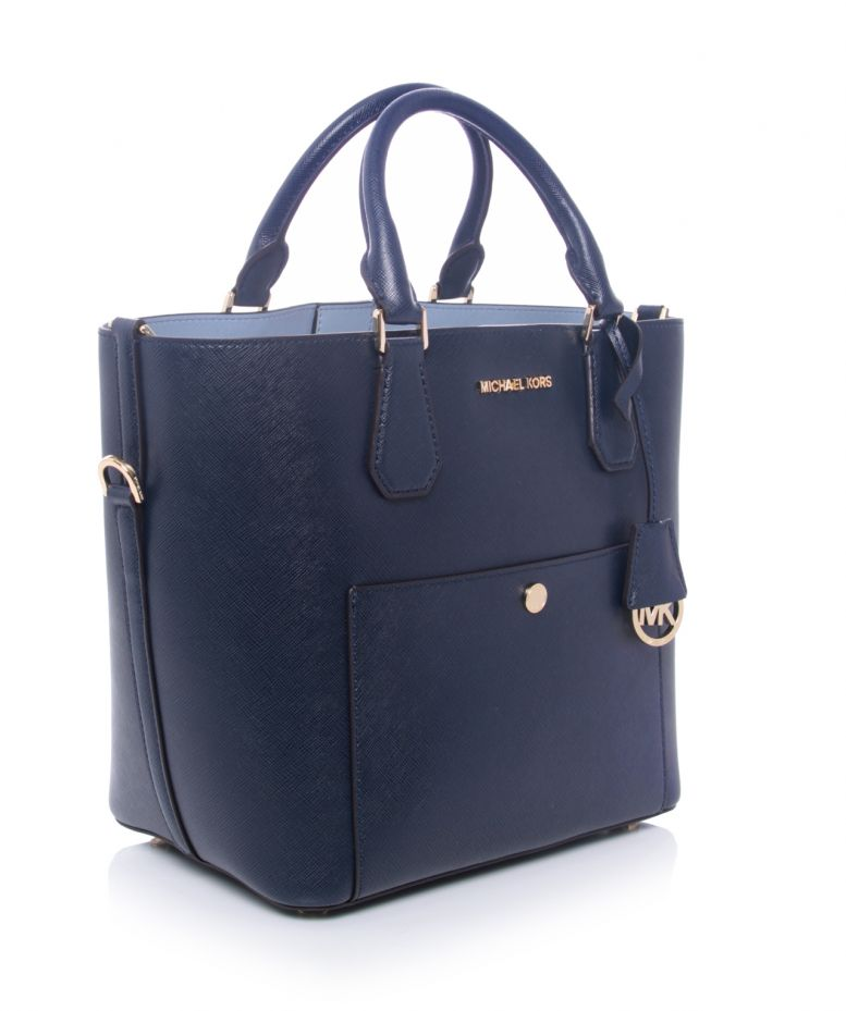 michael michael kors navy large greenwich tote bag. Black Bedroom Furniture Sets. Home Design Ideas