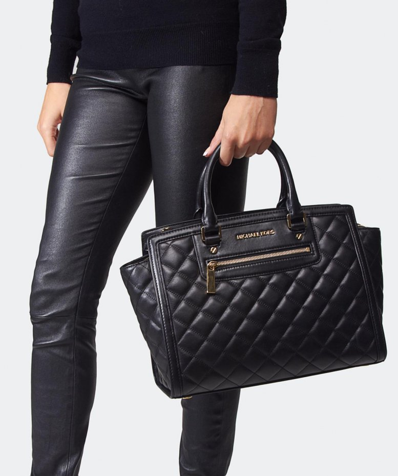 michael michael kors selma quilted large tote bag. Black Bedroom Furniture Sets. Home Design Ideas