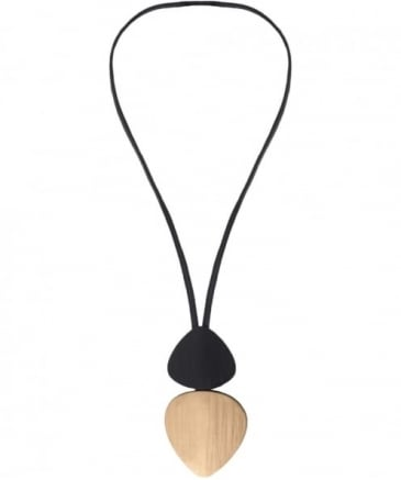 Duo Oversized Wooden Necklace