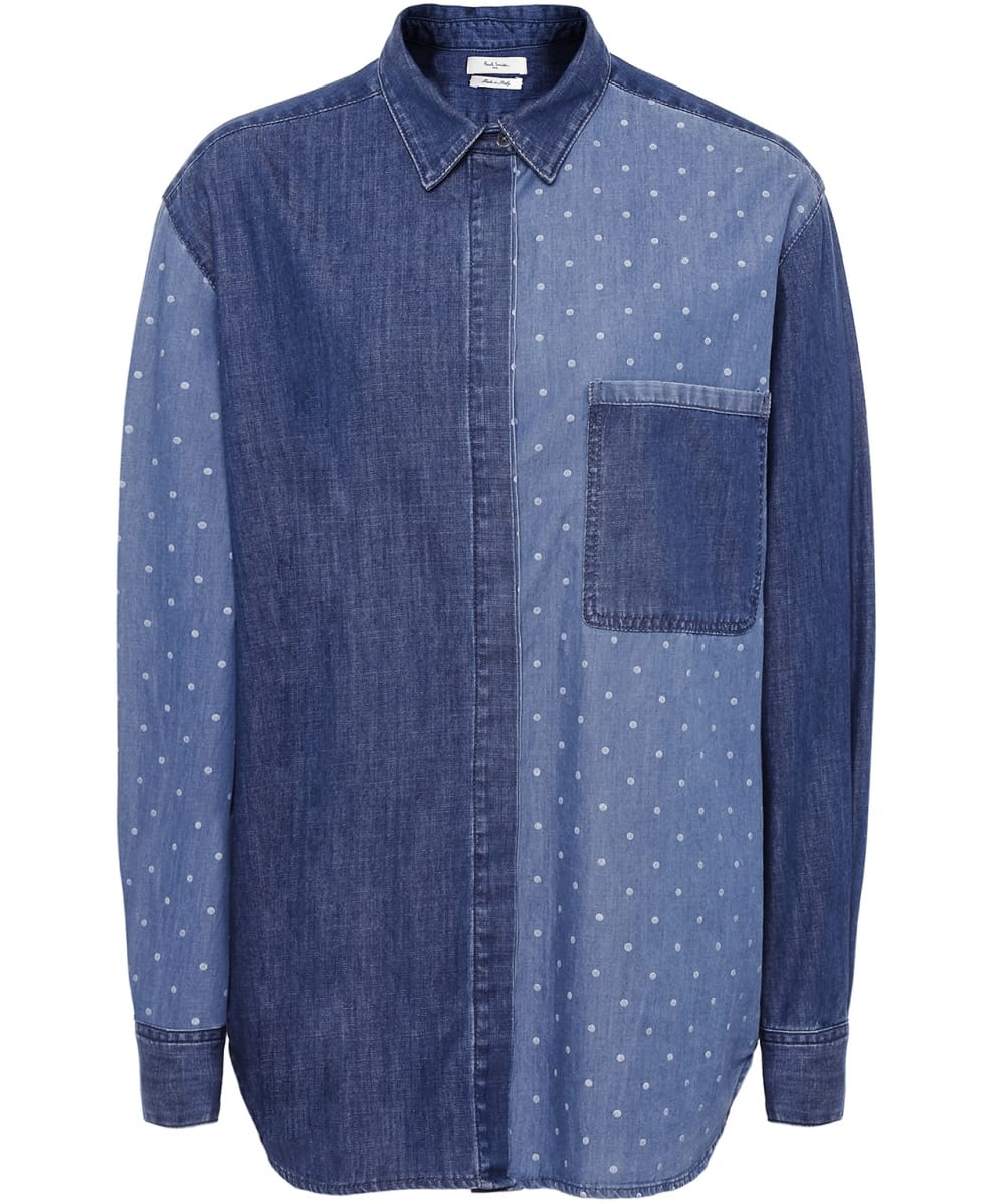 Paul by Paul Smith Half Polka Dot Denim Shirt | Jules B