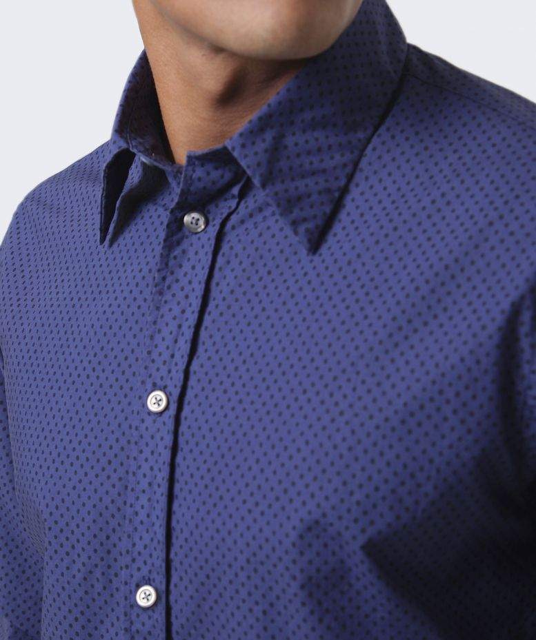 Paul smith jeans tailored fit spot print shirt available for Tailored fit shirts meaning