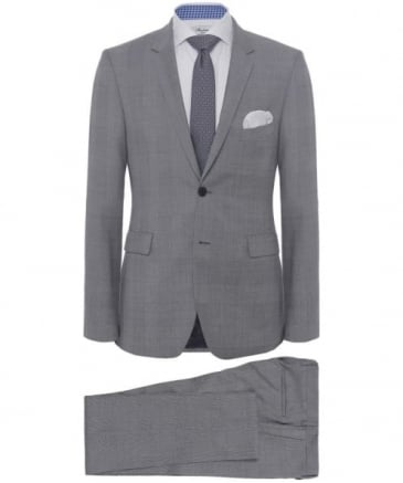 Slim Fit Wool Glen Plaid Suit