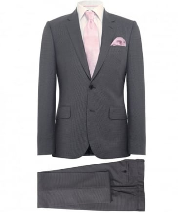 Tailored Fit Houndstooth Wool Suit