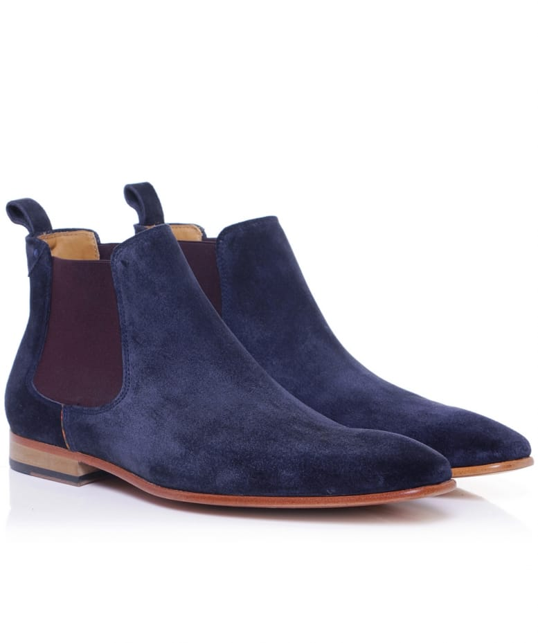 paul smith blue suede falconer chelsea boots jules b