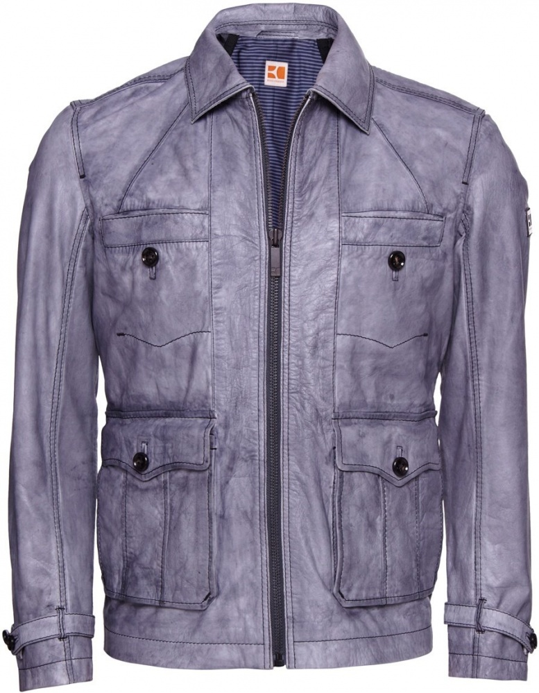 Hugo boss coat grey