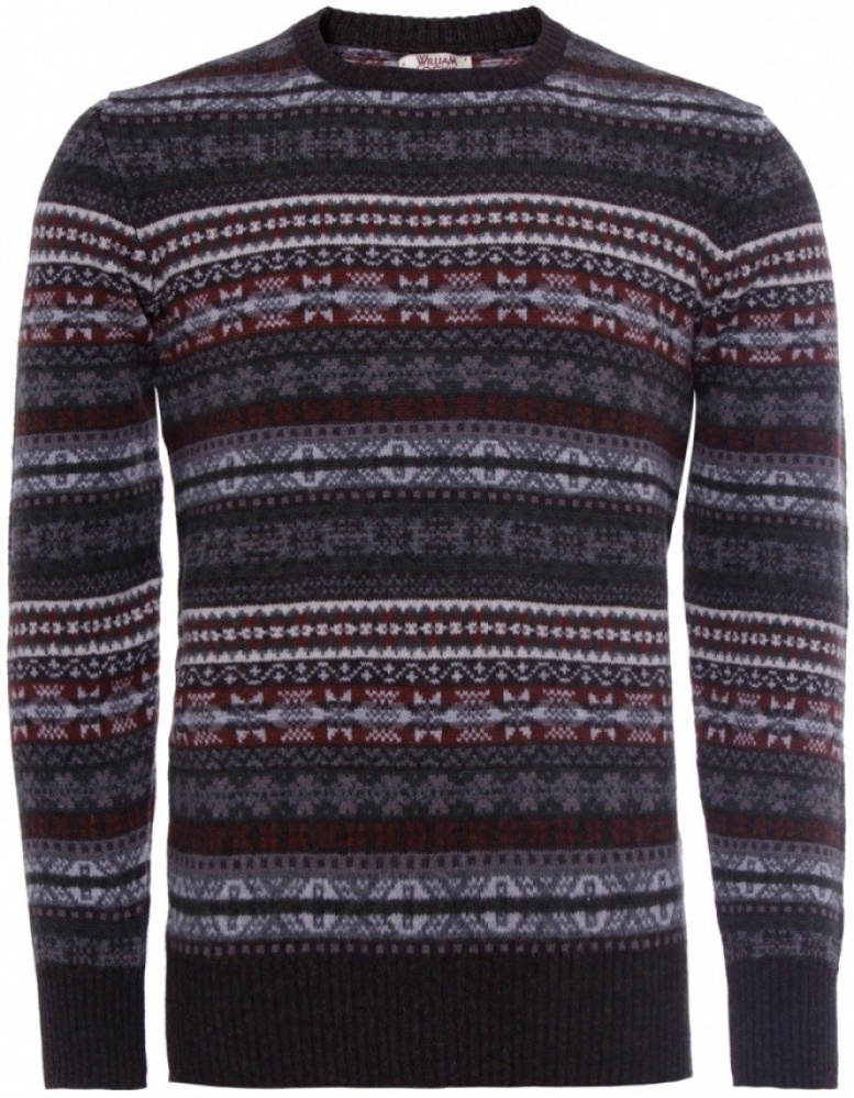 Men's William Lockie Lambswool Fair Isle Sweater | JULES B