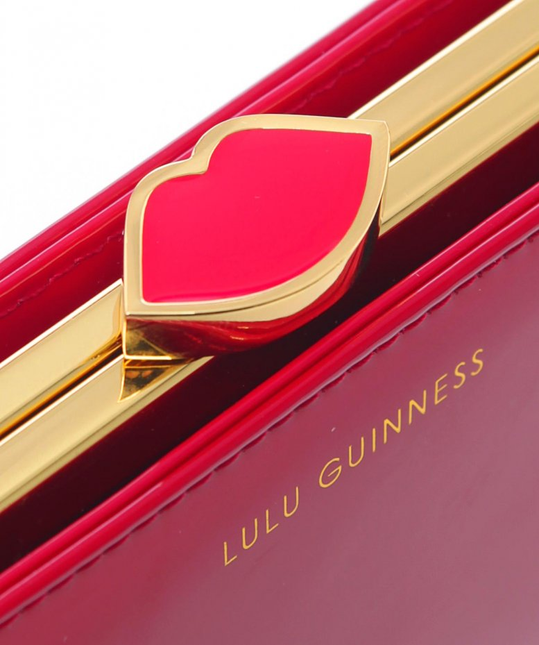 Lulu Guinness Patent Flat Frame Purse available at Jules B
