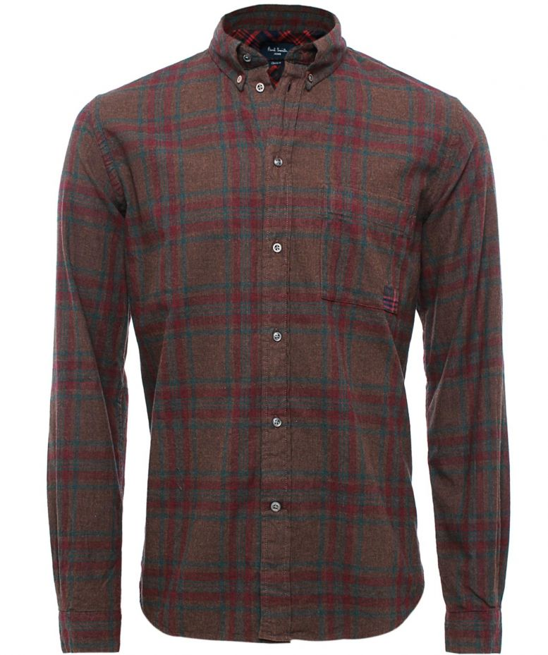 Paul Smith Jeans Flannel Check Shirt Available At Jules B