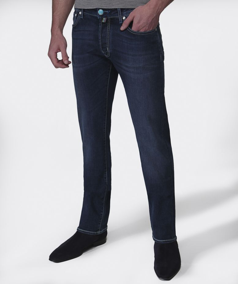 9368f9fe988797 Jacob Cohen Navy Slim Fit Dark Wash Jeans available at Jules B