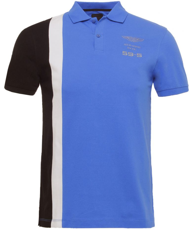 hackett blue aston martin racing polo shirt available at. Black Bedroom Furniture Sets. Home Design Ideas