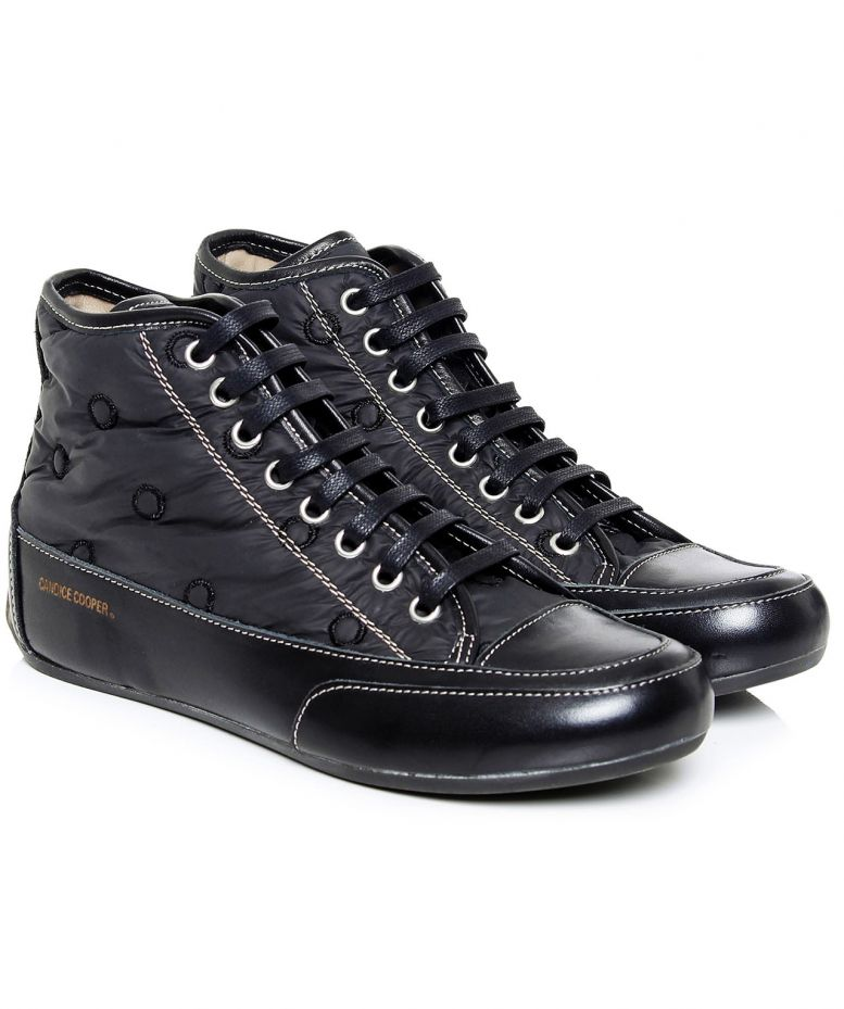 Candice cooper black canape silk spot trainers available for Canape shoes italy