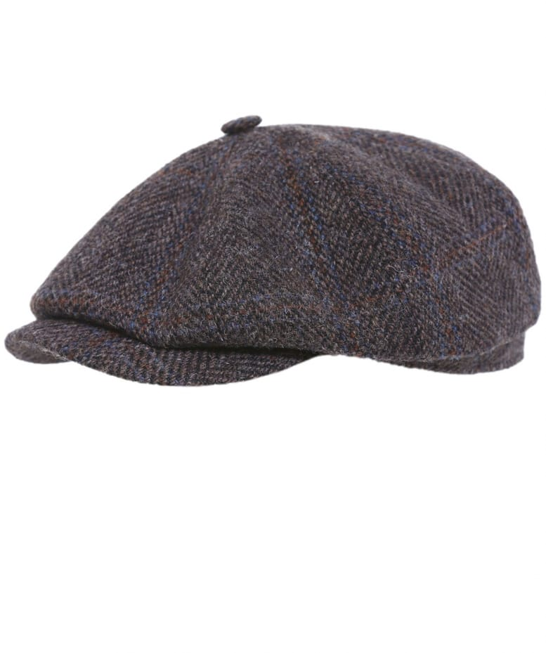 0a9f764bdc16e6 Stetson Brown Hatteras Harris Tweed Cap | Jules B