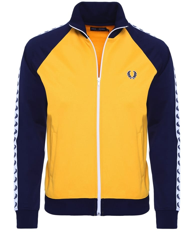 8fae88a7e Fred Perry Yellow Laurel Tape Track Jacket