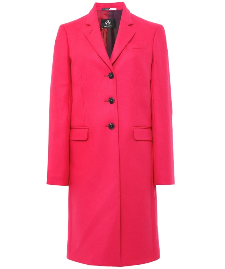 Jules By Epsom Smith Ps Paul B Wool Coat Pink wfBFw0Inq