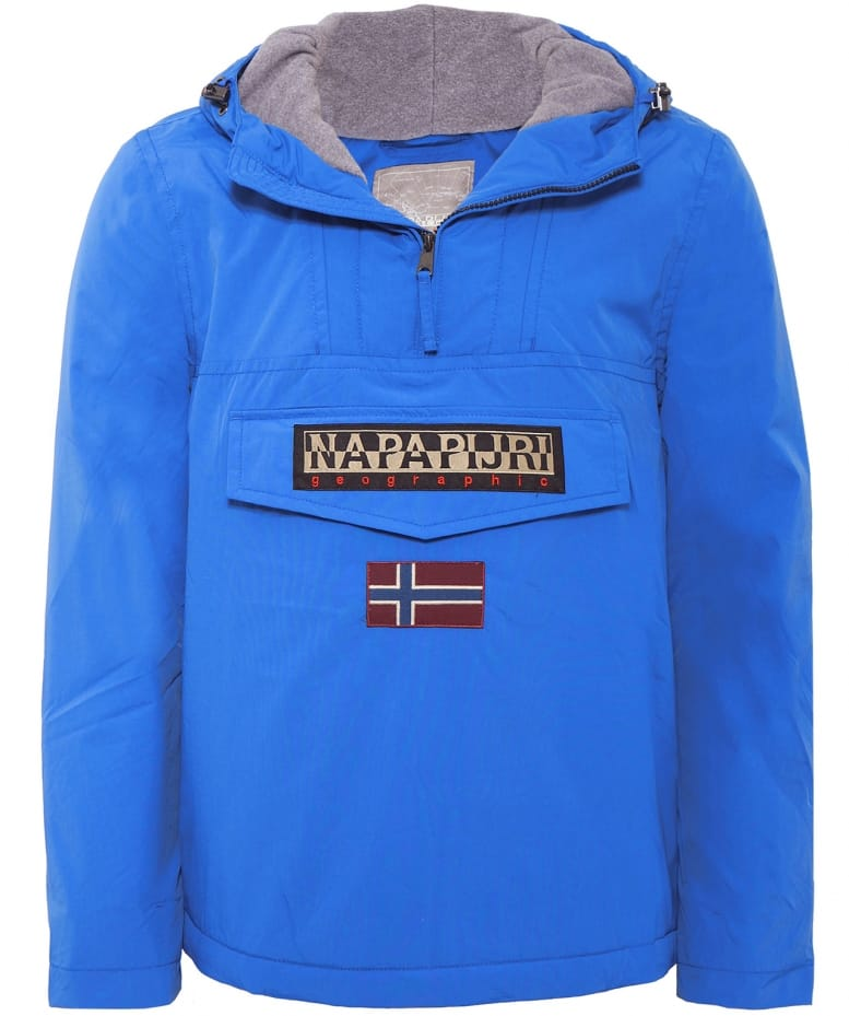 Napapijri Blue Rainforest Pullover Jacket | Jules B