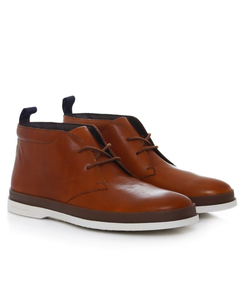 c96b5f3d8e1 PS by Paul Smith Leather Inkie Chukka Boots