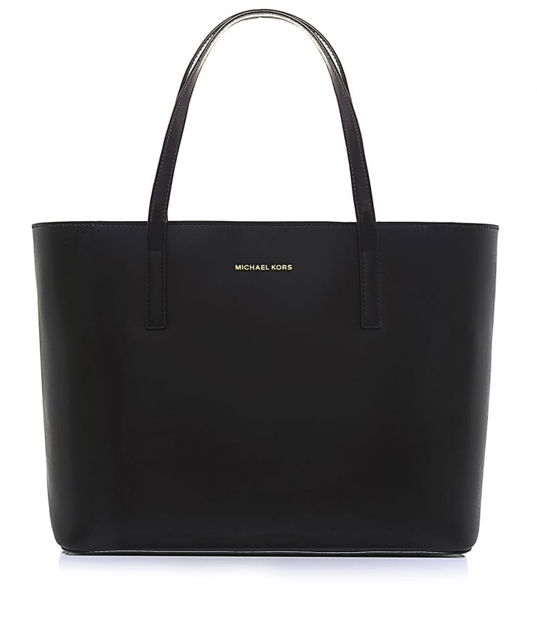 f50c4fdccbb05 MICHAEL Michael Kors Black Emry Leather Tote Bag