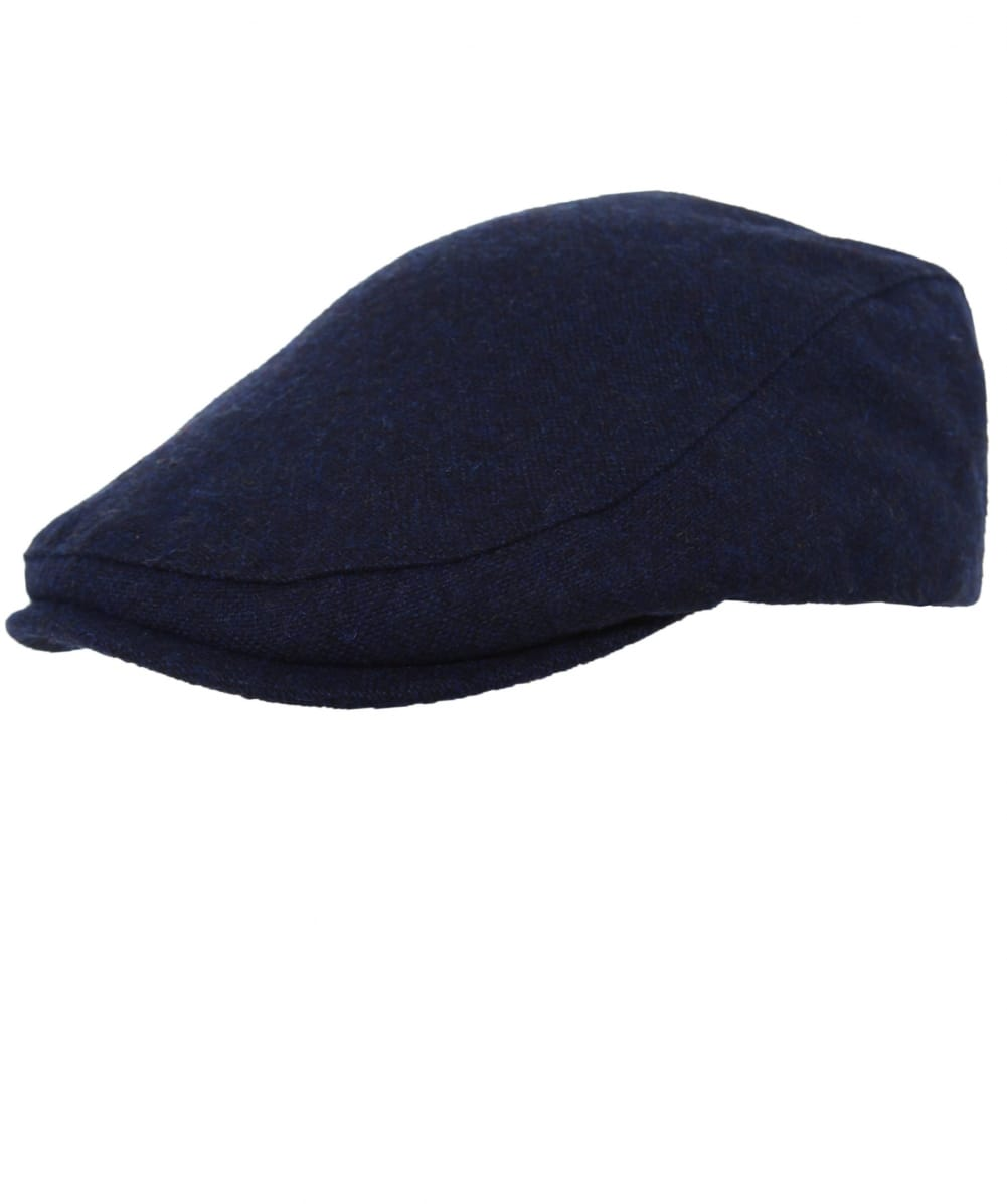 Fred Perry Navy Boiled Wool Flat Cap  9941fd1b07e2