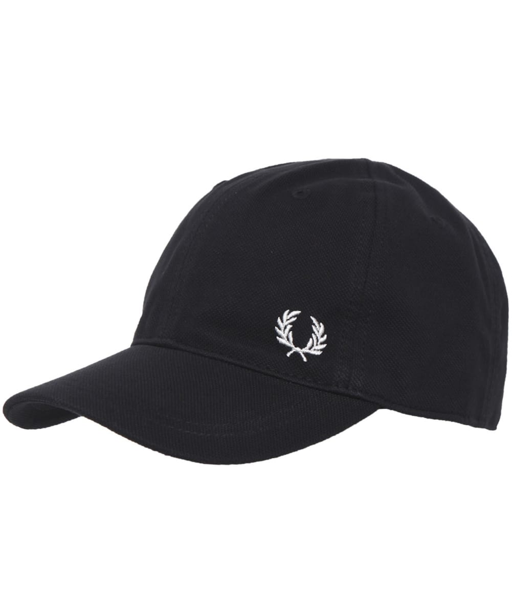 New Fred Perry Classic Pique Baseball Cap in Black Adjustable Size