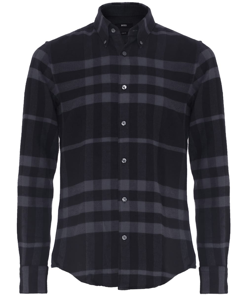 32a60b965 BOSS Hugo Boss Black Slim Fit Rubens Flannel Plaid Shirt | Jules B